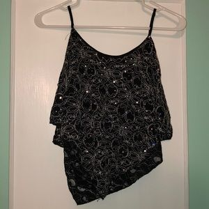 Sparkly tank top size large with adjustable straps
